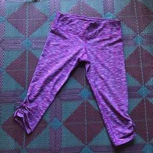 Purple workout capris